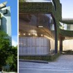 Зеленые фасады зданий
