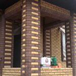 Отделка фасада дома кирпичом