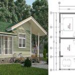Проект дачного дома с верандой