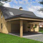 Проект кирпичного гаража