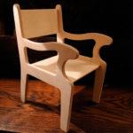 Работа с фанерой: стул своими руками