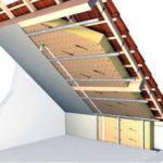 Теплоизоляция крыши мансарды