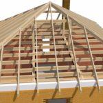 Четырехскатная крыша своими руками, устройство, видео, проекты
