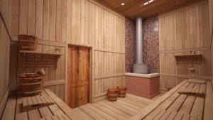 русская баня строительство