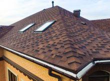 битумная черепица на крыше дома