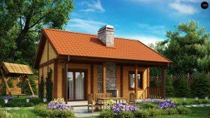 небольшой красивый загородный дом