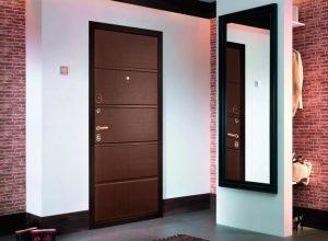 металлическая дверь в интерьере фото