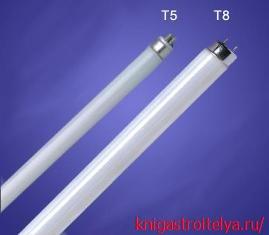 разница между лампами т5 и т8